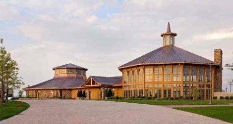 The museum and vistor center at Bethel Woods.