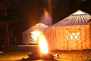 A Yurt at the Penobscot Outpost