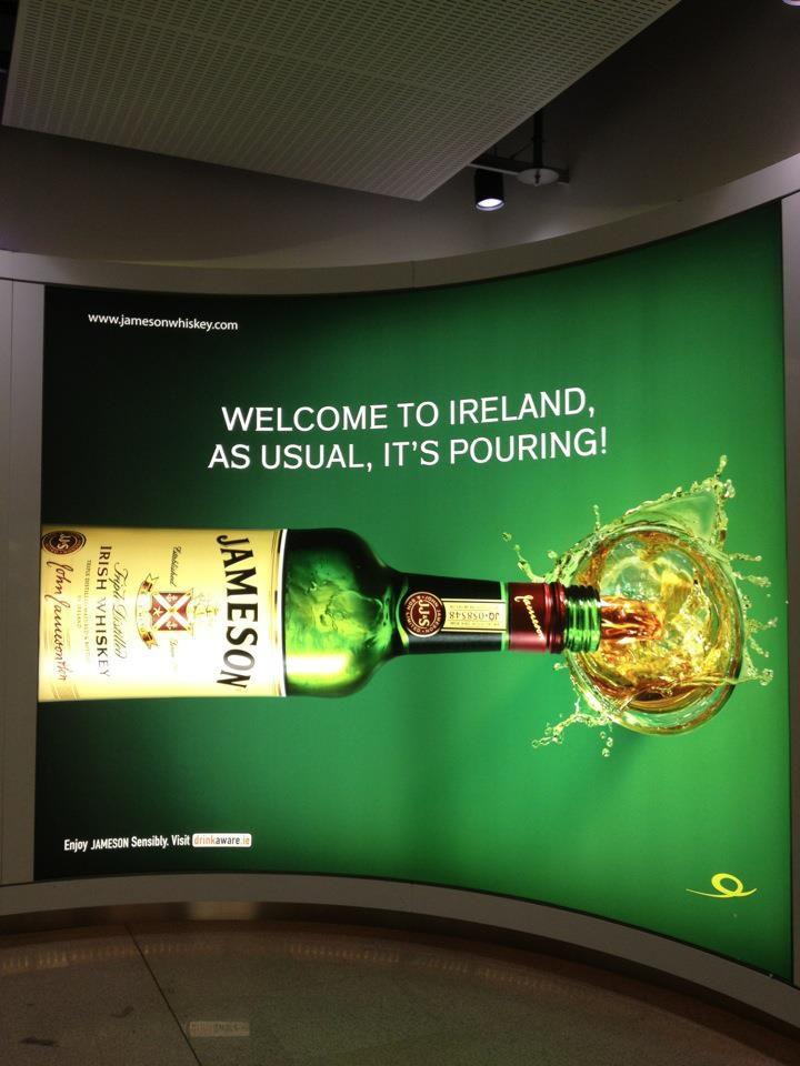 The first thing I saw after debarking from Eire Lingus in Ireland