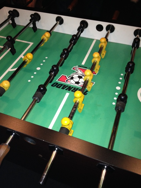 Foosball at Zig-Zags.  Not trying to brag, but I'm really good.  I won several rounds of drinks.