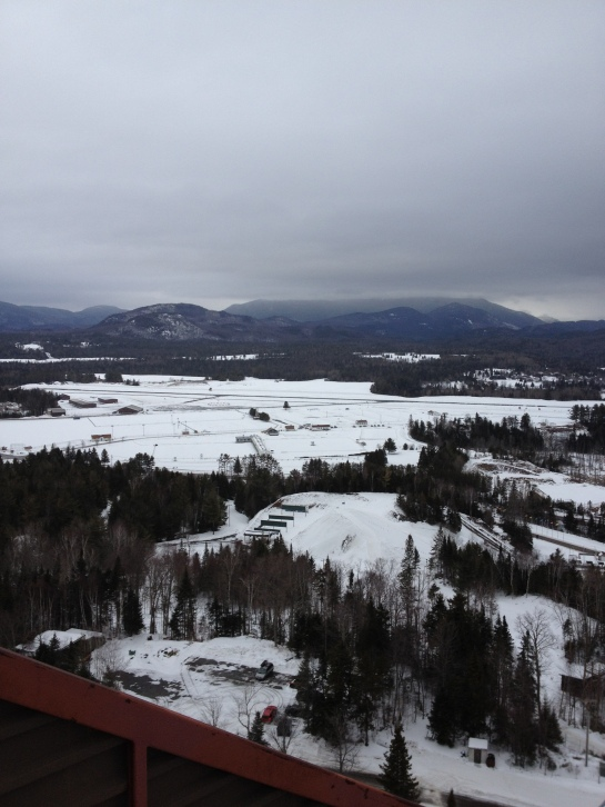 View of Lake Placid from the former Olympic Ski Jump.