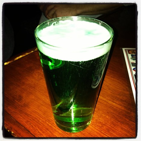 My first green beer.  It tasted like Coors Light.