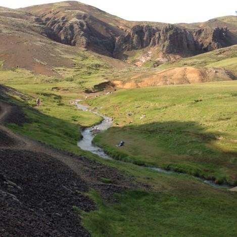 Hot spring river Iceland