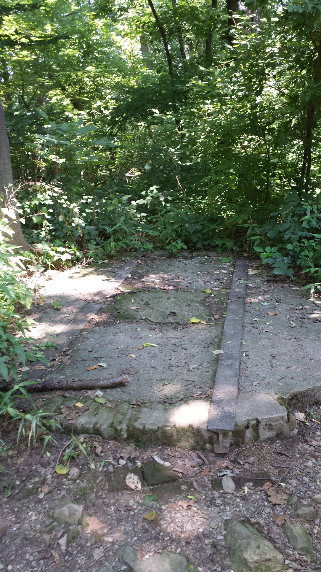 Remnants of the Trolley that used to run up Chickie's Rock until the Depression.