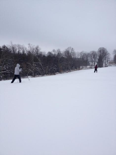 Cross Country skiing with my brother in cousin in Pleasant Mt. PA last Christmas. This is one of my favorite pictures.