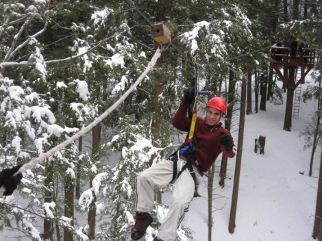 Ziplining at Hunter Mountain back in the day (3 years ago).