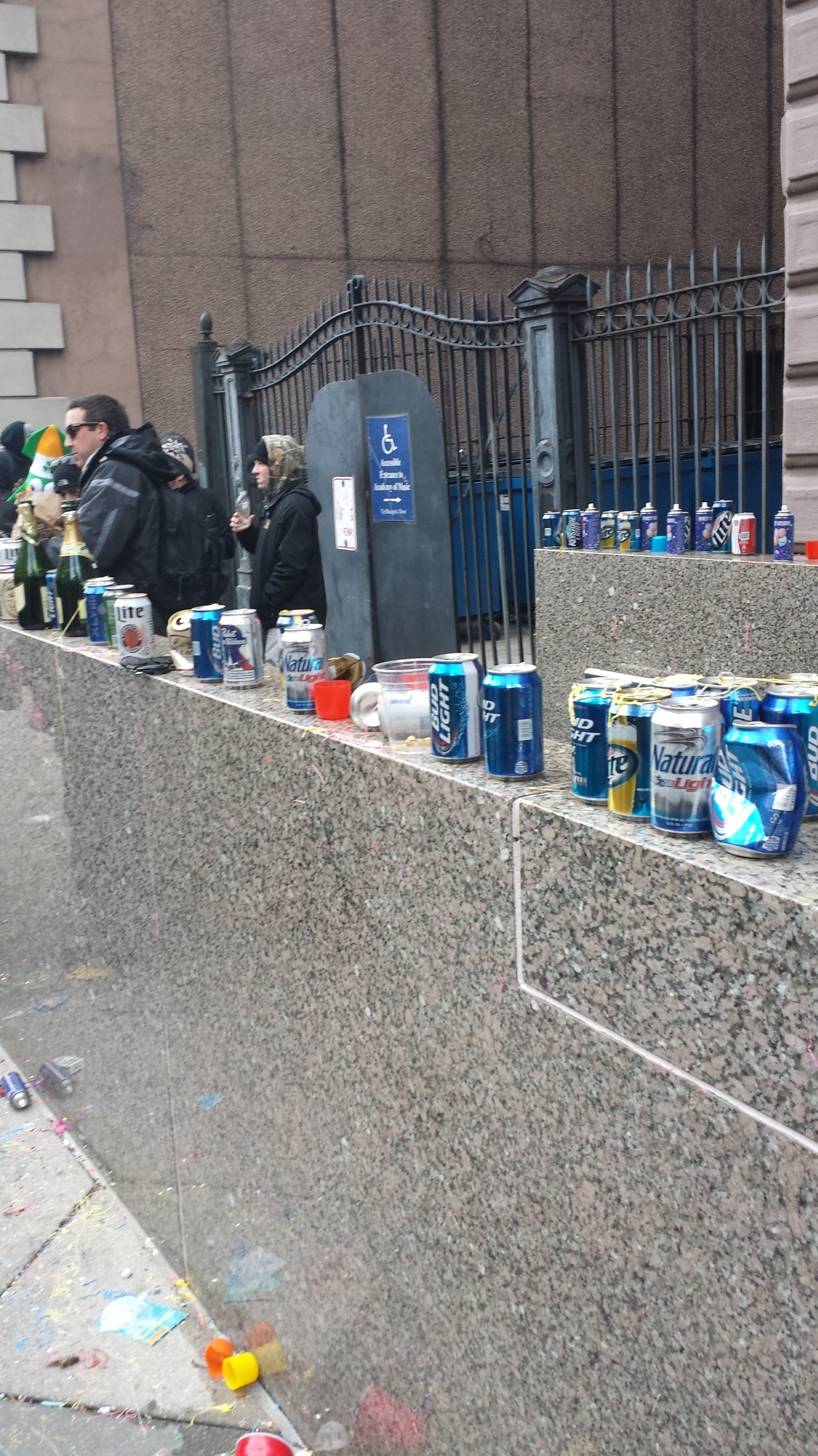 The trash was indicative of how good a time everyone was having.