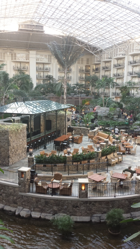 The lobby of Opryland. Vegas-like, no?