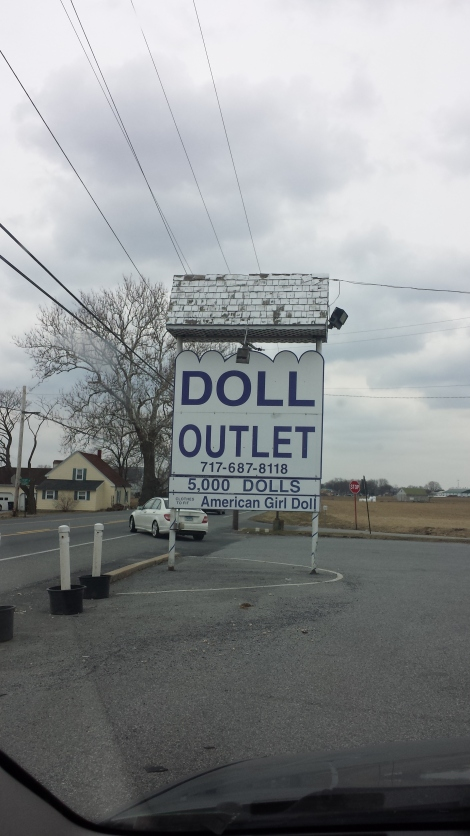 How creepy do you think it is inside the doll outlet?