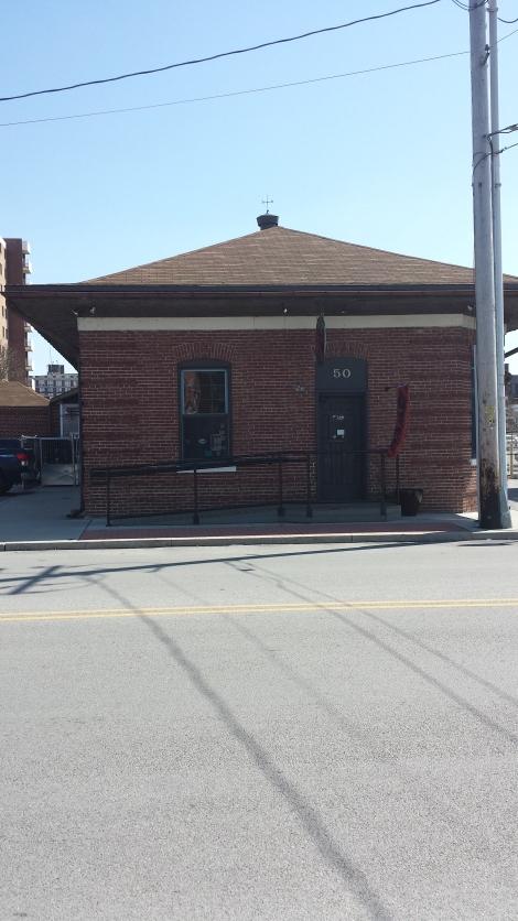 Liquid Hero's old railway warehouse home.