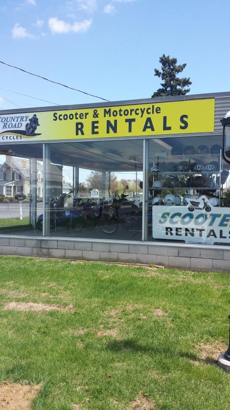 I like that it looks like a moped showroom.