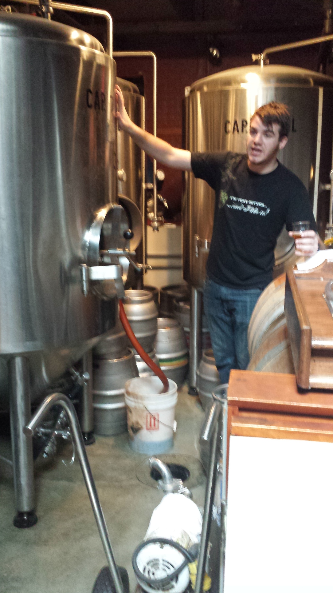 Matt explaining the brewing process to us.