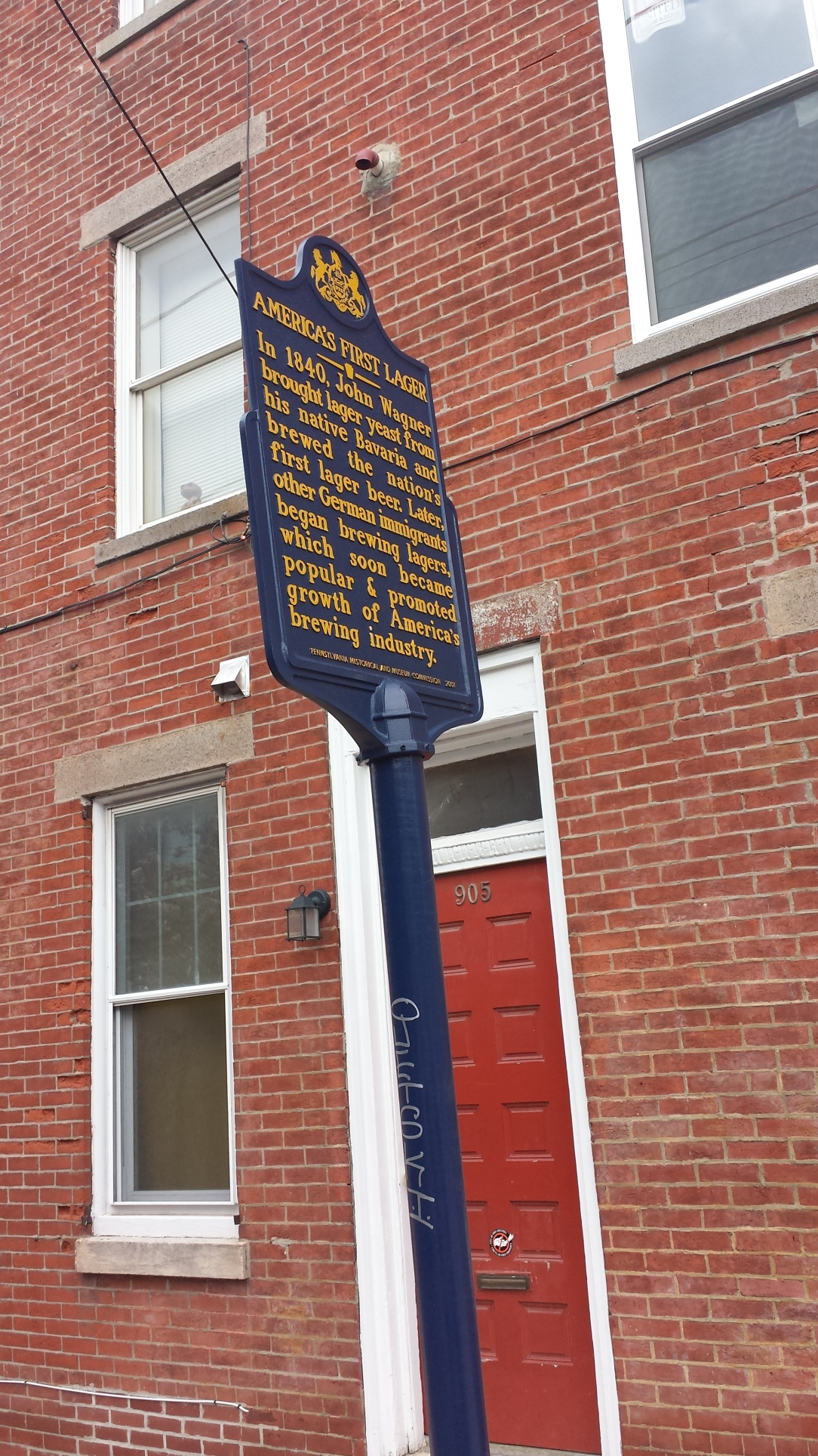 It wasn't just a pub crawl. We also stopped at historical markers, like this one where the first U.S. lager was brewed.