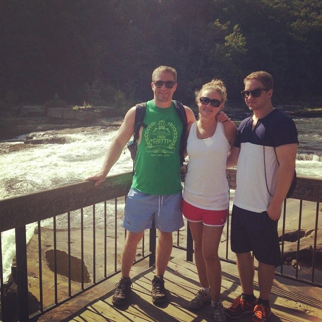 Hanging with my brother and sister, overlooking Ohiopyle Falls.