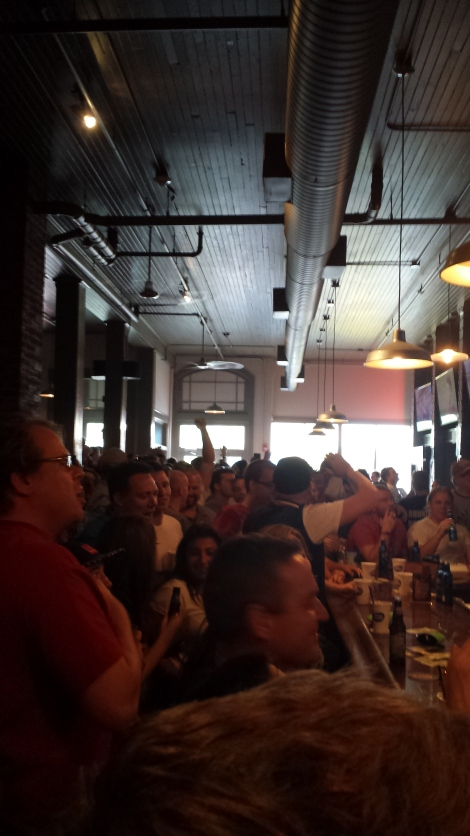 Celebrating the World Cup at Ale Mary's in Scranton.