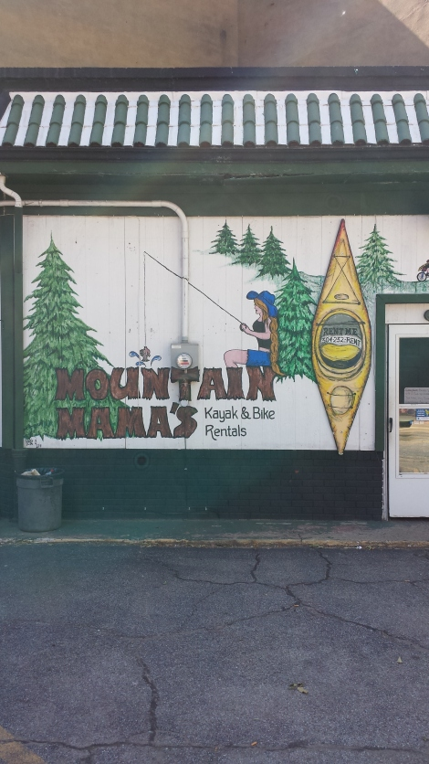 Mountain Mama's Kayak Rentals was closed when we were in Wheeling.