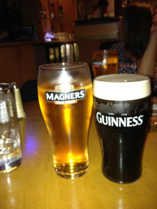 On my last day, I ordered a Guinness and a Magners (It's marketing as Magners in Northern Ireland too).