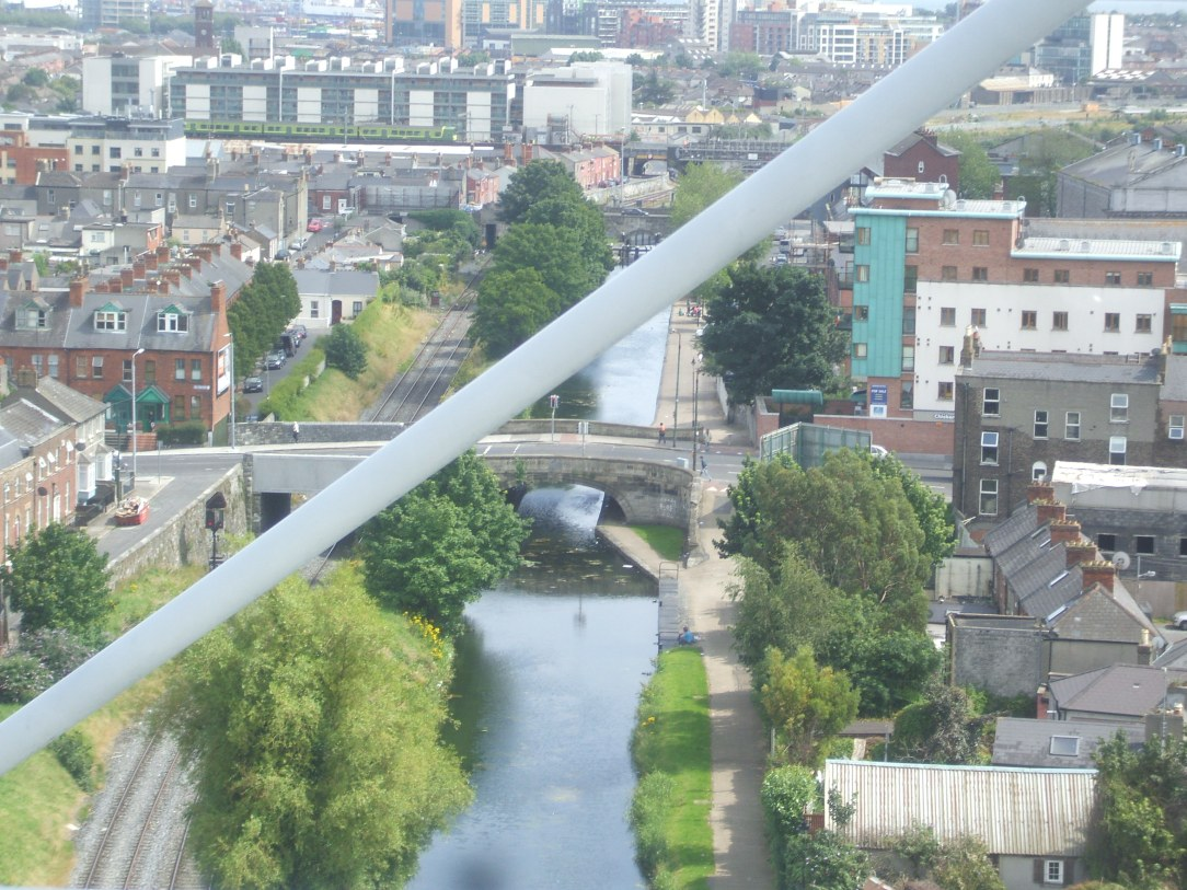 """The """"Royal Canal"""" as seen from Croke Park."""
