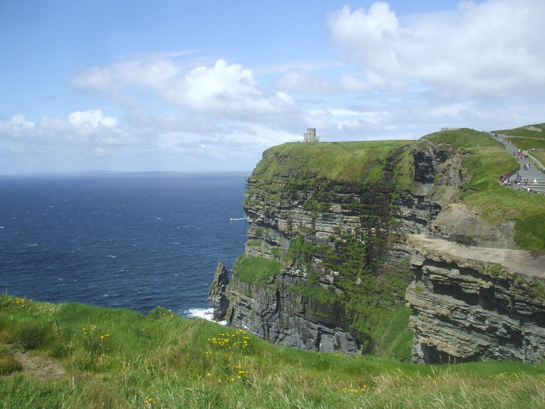 The Cliffs of Moher; it doesn't look real, right?
