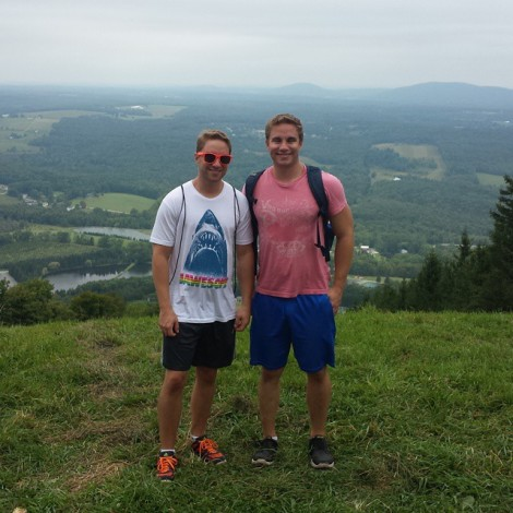 My brother and I at the top of Elk over Labor Day Weekend.