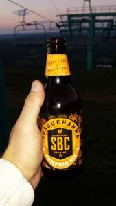 Enjoying a Susquehanna Brewing Company Pumpkin Ale  at the top of Elk Mountain last fall.