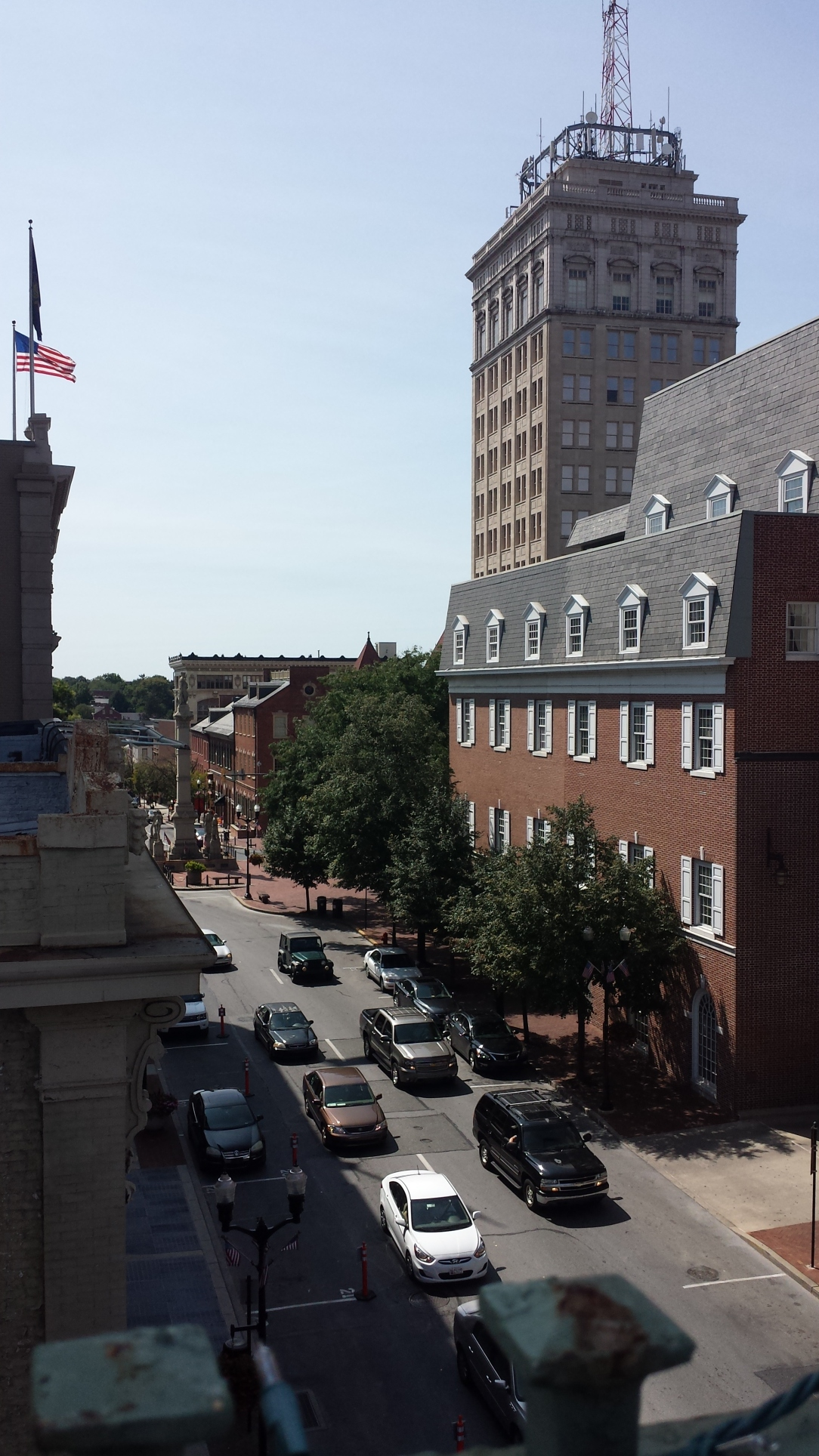 A view of downtown Lancaster from the Tellus 360 rooftop bar.