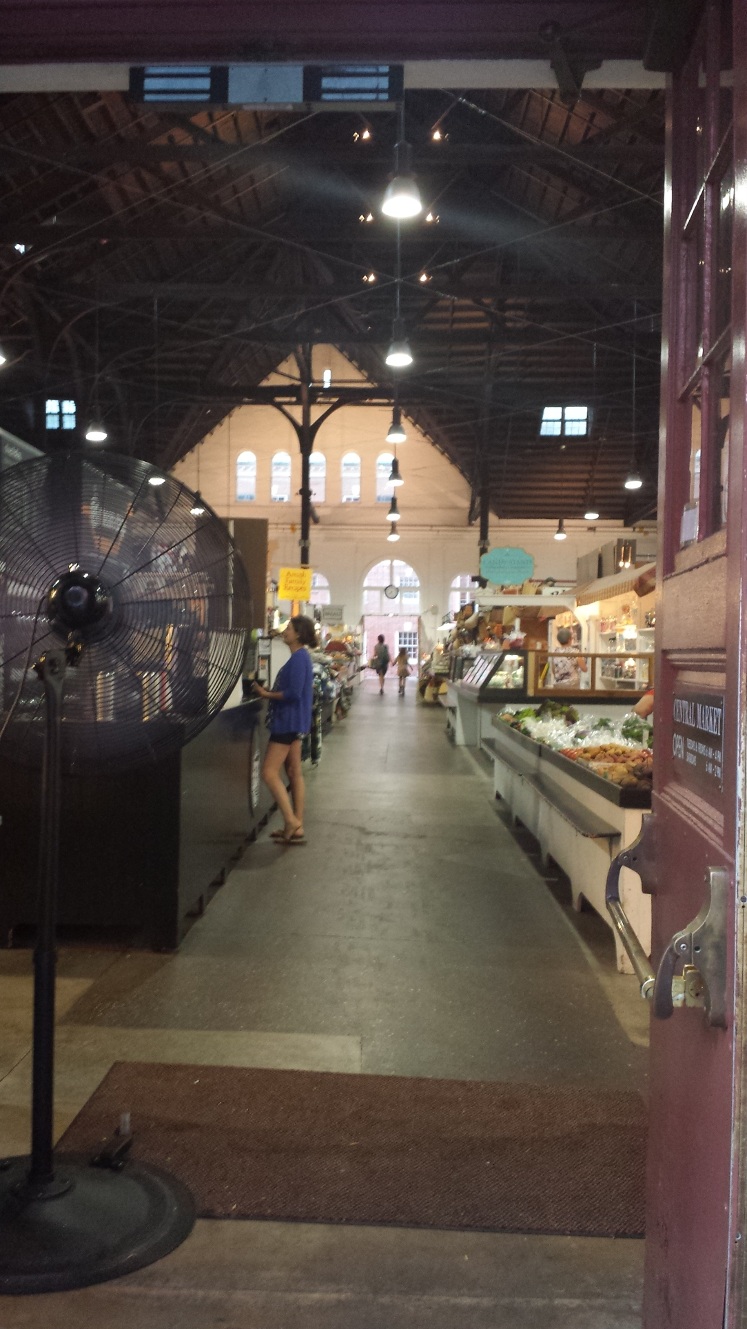 From this angle you could see what an impressively sized building the Central Market is.