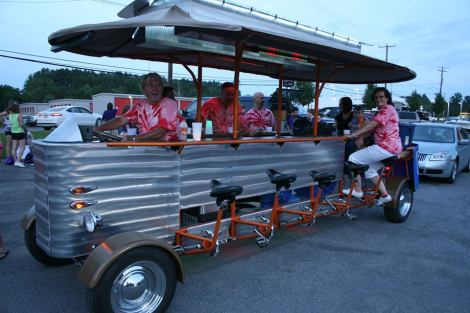 """The bike at the Forest City """"Togetherness Festival"""" (RIP Old Home Week) Parade this past summer."""