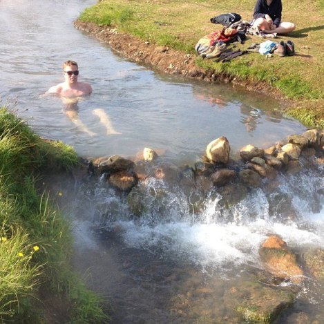 That's me chilling in the hot-spring river I'd like to XC ski to (although snowshoeing would probably be smarter).