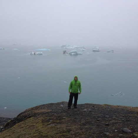 Standing in front of said glacial lagoon. I have to say, the tide here was pretty intense, so SUPing would probably be pretty intense. That being said, one of my major regrets was not taking a picture touching an iceberg (my sister kept freaking out everytime I mentioned wanting to wade out to one...weird, right?).