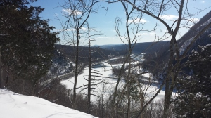 A view of the Delaware Water Gap from halfway up Mt. Tammany.