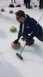 My brother curling: one of the best pictures I've taken to date.