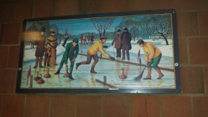 Old timey curling.