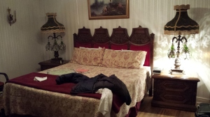 """As an astute observer who commented on this picture of our hotel room, when I uploaded it to Facebook said, """"it was them maid, in the bedroom, with the candlestick."""""""