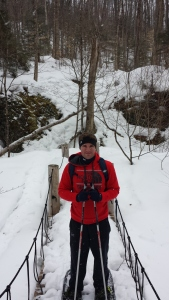 First snow shoe pic of the day at Henry's Woods.