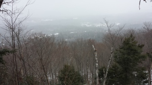 The snow-clouded view.