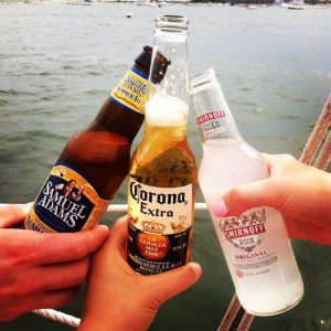 That time my sister embarrassed us by ordering a SMIRNOFF ICE on the cat boat.