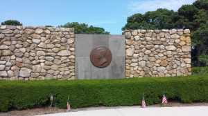 The JFK Monument, overlooking Hyannis harbor.