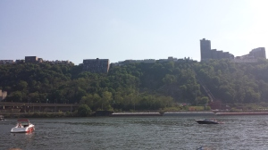 A view of the Duquesne Incline from the water.