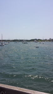 Edgartown harbor, as seen from the Chappy Ferry.