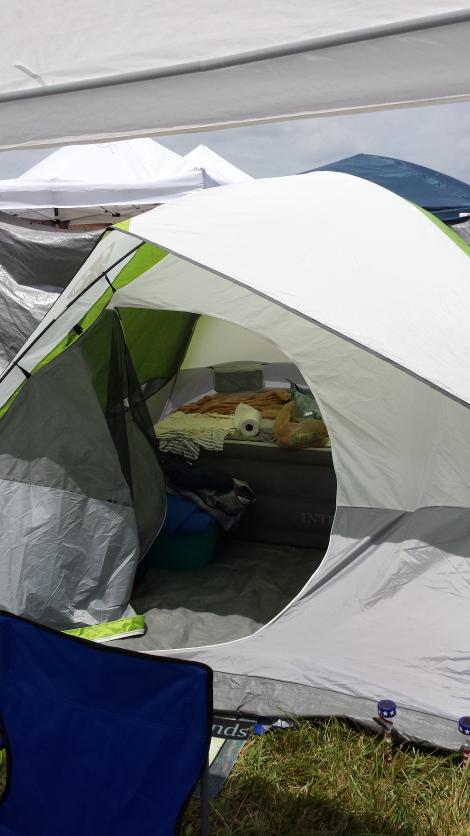 Tent life.