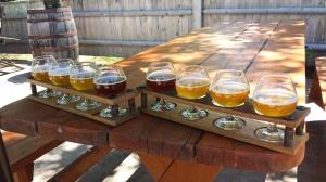 Some beer sampling at Allagash.