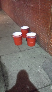 Big bucket beer pong.