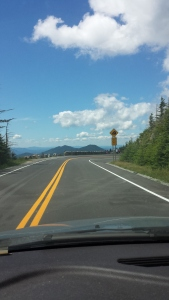 Driving up to Whiteface's summit.