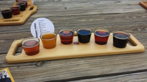 Beer sampling at Wagner Valley Brewery