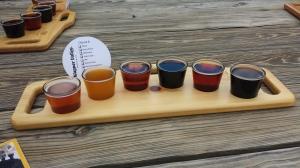 Beer sampling at Wagner Valley Brewery