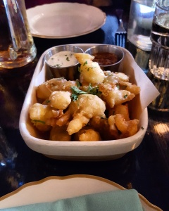 Cheese curds with burnt scallion ranch at Bud & Marilyn's.